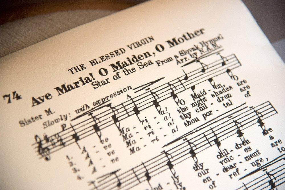 Musiknoten für Trauerfeier